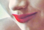 A close-up of my lips as they appeared in the photo above.