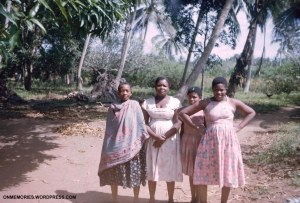 Four Zanzibar women on road to slave cave, July 6, 1964.