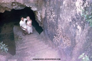 Dick-Dick and Shannon Moeser descending into slave cave, July 6, 1964.