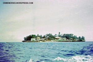 Approaching Prison Island.  Photograph taken July 6, 1964.