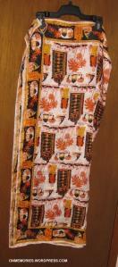 My Zanzibar scarf.  Photograph taken February 3, 2014.